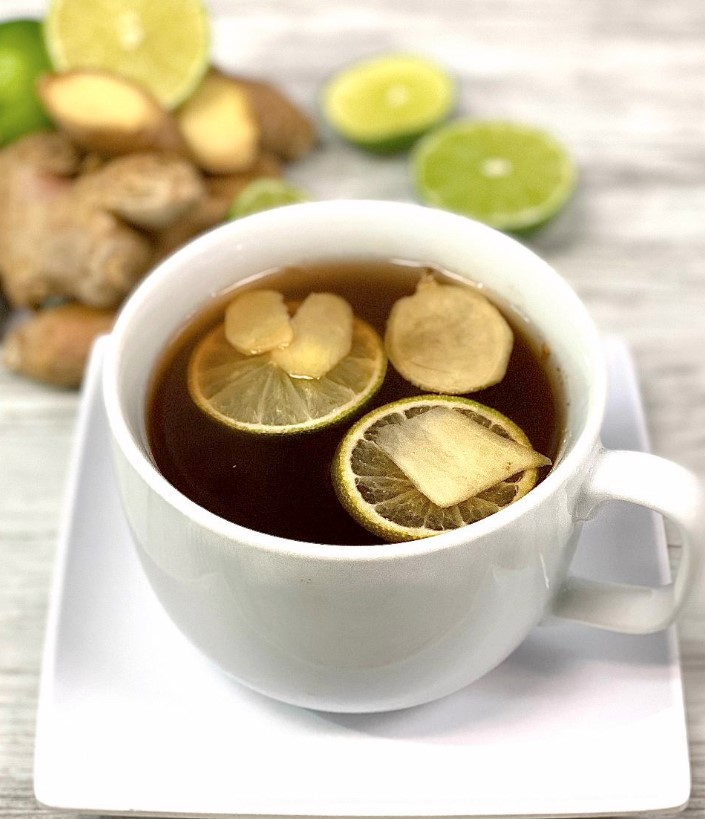 Iced Honey Ginger Tea